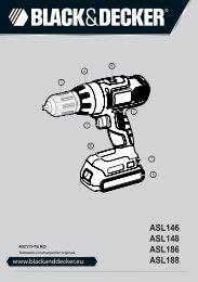 BlackandDecker Trapano Senza Cavo- Asl148 - Type H1 - Instruction Manual (Romania)