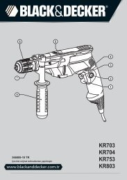 BlackandDecker Trapano Percussione- Kr753 - Type 2 - Instruction Manual (Turco)