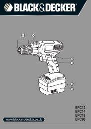 BlackandDecker Trapano Senza Cavo- Epc12 - Type H1 - Instruction Manual (Inglese)