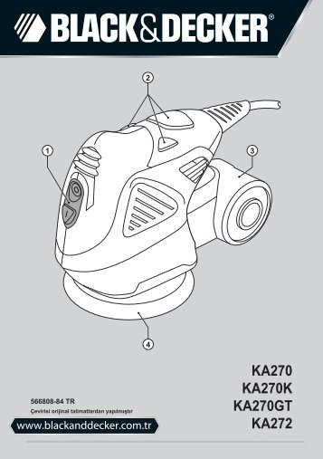 BlackandDecker Sabbiatrice Orbitale- Ka270k - Type 1 - Instruction Manual (Turco)