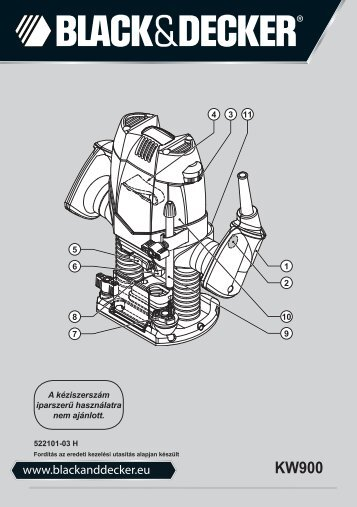BlackandDecker Toupie- Kw900e - Type 1 - Instruction Manual (Ungheria)