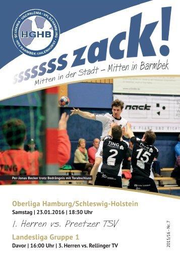 Ssssssszack! HGHB vs. Preetzer TSV