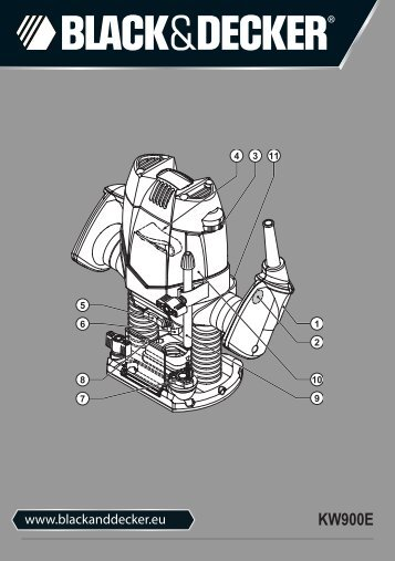 BlackandDecker Toupie- Kw900e - Type 1 - Instruction Manual (Europeo)