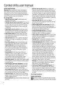 BlackandDecker Trapano- Kd354e - Type 1 - Instruction Manual - Page 4