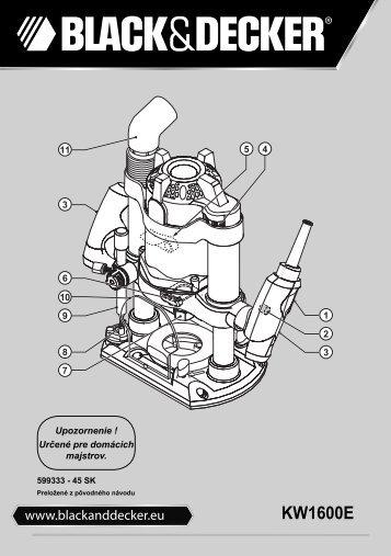 BlackandDecker Toupie- Kw1600e - Type 1 - Instruction Manual (Slovacco)