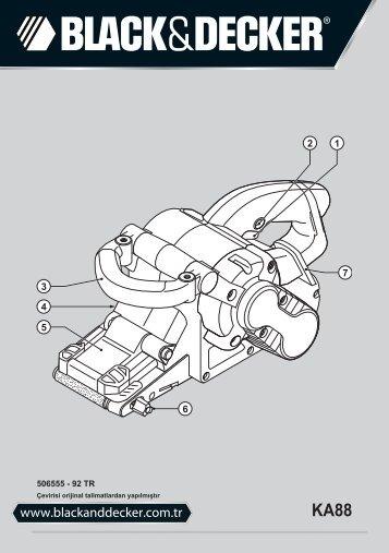 BlackandDecker Sabbiatric A Cinghia- Ka88 - Type 3 - Instruction Manual (Turco)
