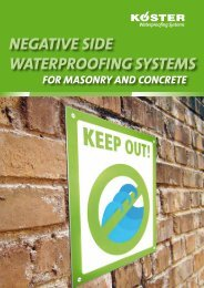 NEGATIVE SIDE WATERPROOFING SYSTEMS