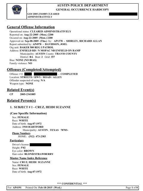 austin police incident report - Hizir kaptanband co