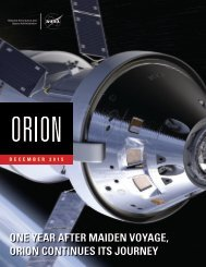 ONE YEAR AFTER MAIDEN VOYAGE ORION CONTINUES ITS JOURNEY