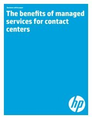 The benefits of managed services for contact centers