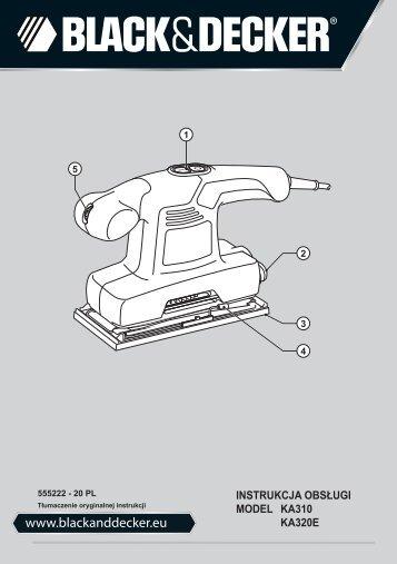 BlackandDecker Sabbiatrice Orbitale- Ka310 - Type 1 - Instruction Manual (Polonia)