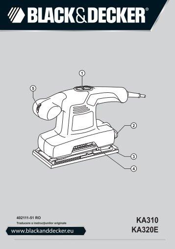 BlackandDecker Sabbiatrice Orbitale- Ka310 - Type 1 - Instruction Manual (Romania)