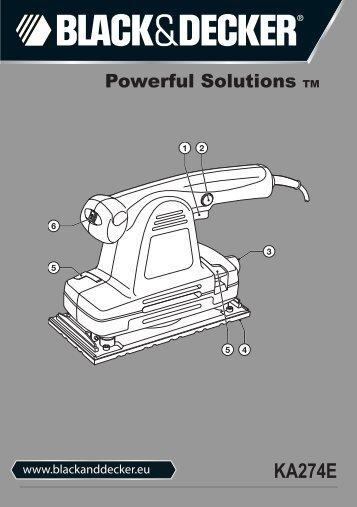 BlackandDecker Sabbiatrice Orbitale- Ka274ek(L) - Type 1 - Instruction Manual (Europeo)