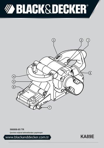 BlackandDecker Sabbiatric A Cinghia- Ka89e - Type 1 - Instruction Manual (Turco)