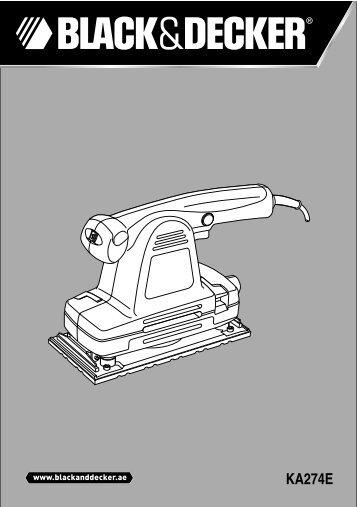 BlackandDecker Sabbiatrice Orbitale- Ka274ek(L) - Type 1 - Instruction Manual (Inglese - Arabo)