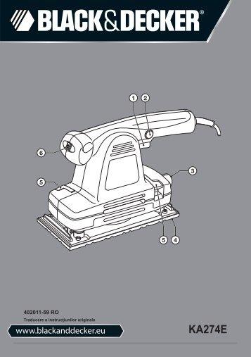 BlackandDecker Sabbiatrice Orbitale- Ka274ek(L) - Type 1 - Instruction Manual (Romania)