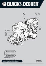 BlackandDecker Sabbiatric A Cinghia- Ka89e - Type 1 - Instruction Manual (Russia - Ucraina)