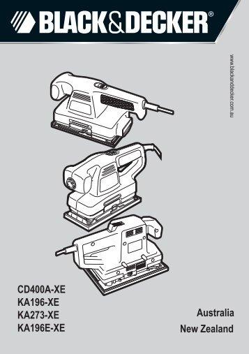 BlackandDecker Smerigliatrice- Ka273 - Type 4 - Instruction Manual (Australia Nuova Zelanda)