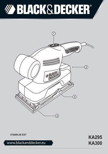 BlackandDecker Smerigliatrice- Ka295 - Type 1 - Instruction Manual (Europeo Orientale)