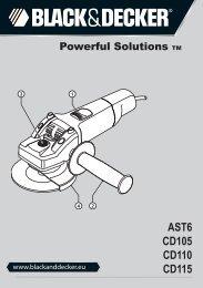 BlackandDecker Smerigliatrice Angolare Piccola- Cd110 - Type 3 - Instruction Manual (Europeo)