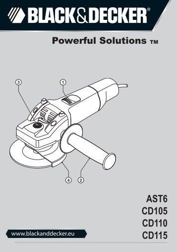BlackandDecker Smerigliatrice Angolare Piccola- Ast6 - Type 3 - Instruction Manual (Europeo)