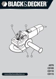 BlackandDecker Smerigliatrice Angolare Piccola- Cd110 - Type 4 - Instruction Manual (Europeo)