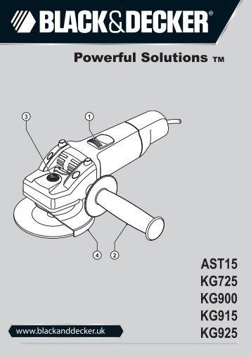 BlackandDecker Smerigliatrice Angolare Piccola- Kg925 - Type 2 - Instruction Manual (Inglese)