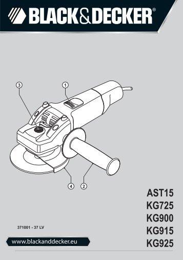 BlackandDecker Smerigliatrice Angolare Piccola- Kg925 - Type 3 - Instruction Manual (Lettonia)