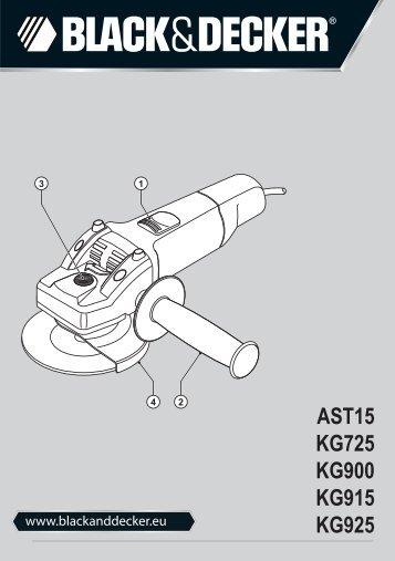 BlackandDecker Smerigliatrice Angolare Piccola- Kg900 - Type 3 - Instruction Manual (Europeo Orientale)