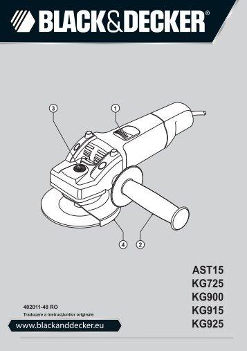 BlackandDecker Smerigliatrice Angolare Piccola- Ast15 - Type 3 - Instruction Manual (Romania)