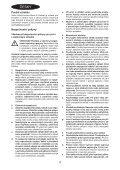 BlackandDecker Smerigliatrice Angol- Kg2205 - Type 1 - Instruction Manual (Czech) - Page 4
