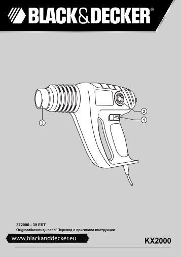 BlackandDecker Pistola Termica- Kx2000k - Type 3 - Instruction Manual (Europeo Orientale)