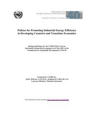 Policies for Promoting Industrial Energy Efficiency in ... - unido