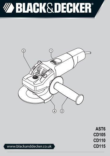 BlackandDecker Smerigliatrice Angolare Piccola- Ast6 - Type 4 - Instruction Manual (Inglese)