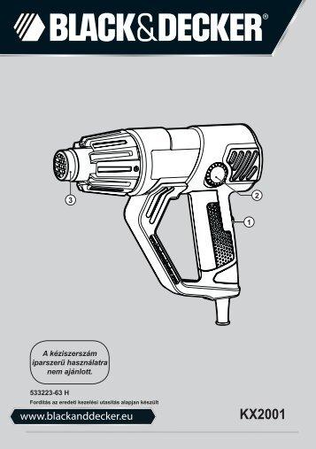 BlackandDecker Pistola Termica- Kx2001 - Type 1 - Instruction Manual (Ungheria)