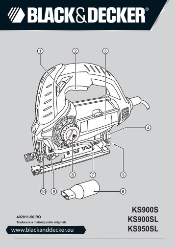 BlackandDecker Maschera Da Taglio- Ks900s(K) - Type 1 - Instruction Manual (Romania)