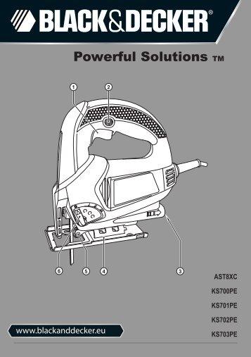 BlackandDecker Maschera Da Taglio- Ks700pe - Type 1 - Instruction Manual (Europeo)