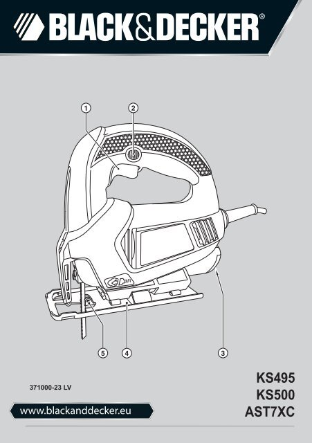 Blackanddecker Maschera Da Taglio Ks495 Type 1 Instruction