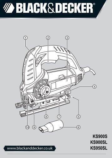 BlackandDecker Maschera Da Taglio- Ks900s(K) - Type 1 - Instruction Manual (Inglese)
