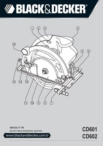 BlackandDecker Sega Circolare- Cd601 - Type 1 - Instruction Manual (Turco)