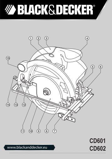 BlackandDecker Sega Circolare- Cd601 - Type 2 - Instruction Manual (Europeo Orientale)