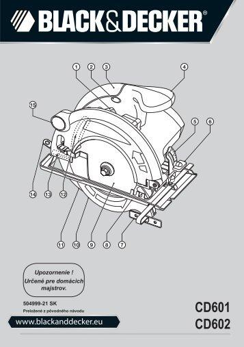 BlackandDecker Sega Circolare- Cd602 - Type 1 - Instruction Manual (Slovacco)