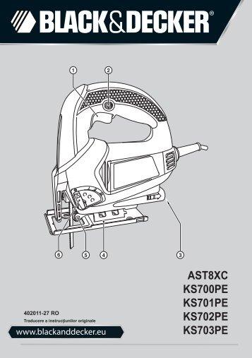 BlackandDecker Maschera Da Taglio- Ks700pe - Type 1 - Instruction Manual (Romania)