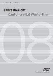 Jahresbericht 2008 - Kantonsspital Winterthur