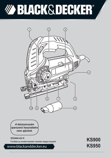BlackandDecker Maschera Da Taglio- Ks900s(K) - Type 1 - Instruction Manual (Ungheria)