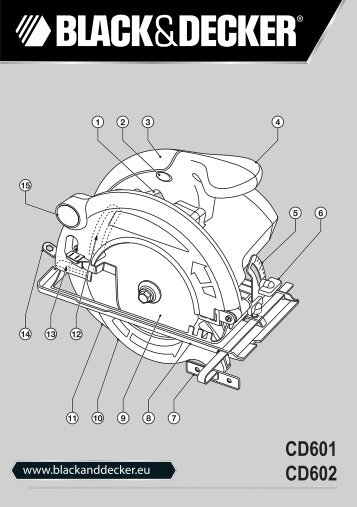 BlackandDecker Sega Circolare- Cd602 - Type 1 - Instruction Manual (Europeo Orientale)