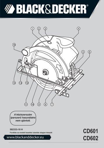 BlackandDecker Sega Circolare- Cd602 - Type 1 - Instruction Manual (Ungheria)