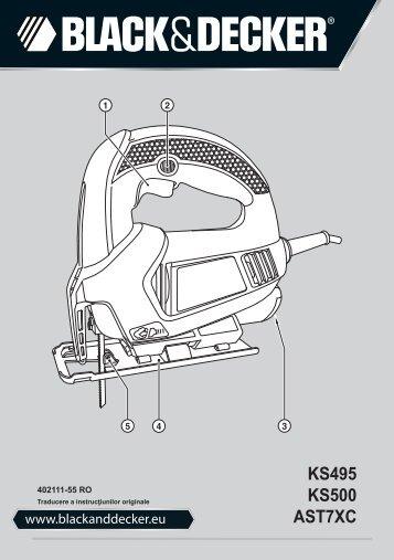 BlackandDecker Maschera Da Taglio- Ks500 - Type 1 - Instruction Manual (Romania)