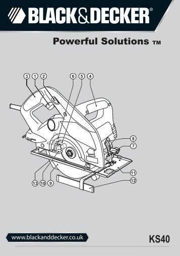BlackandDecker Sega Circolare- Ks40 - Type 1 - Instruction Manual (Inglese)