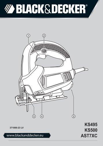 BlackandDecker Maschera Da Taglio- Ks500 - Type 1 - Instruction Manual (Lettonia)